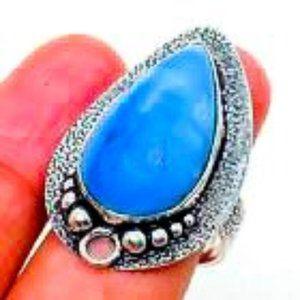 Owyhee Blue Opal Ring
